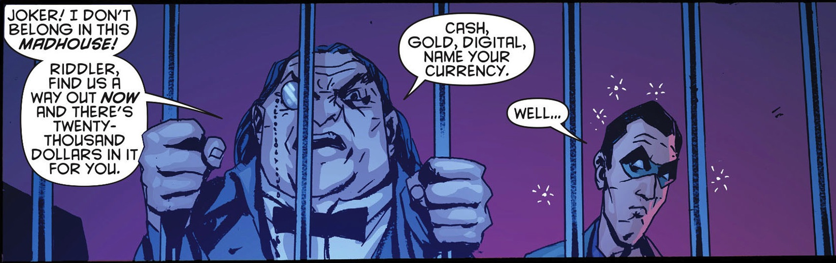 """1. """"Batman #16"""" Penguin gets trapped in Arkham as the conclusion of """"Death of the Family"""" nears."""