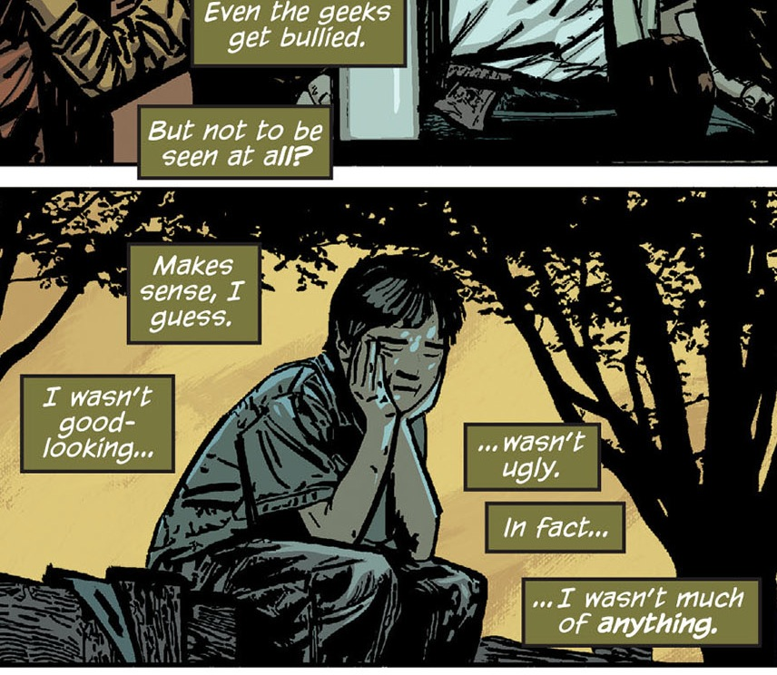 """Basil Karlo: Portrait of a sad, neglected goober kid. (From """"The Dark Knight #24"""")."""