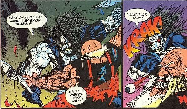The Lobo Paramilitary Christmas Special #1. Santa gets fragged by the Main Man.