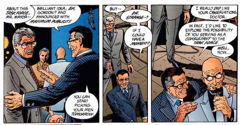 LOTDK #11: Mayor Wilson Klass. This klassy guy thinks Batman is bad for business, but Hugo Strange is totally dope.