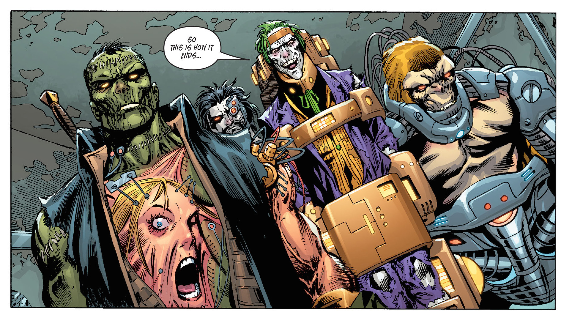 Futures End #12. THIS is the possible future that Terry McGinnis wants to/will erase. Fine by me.