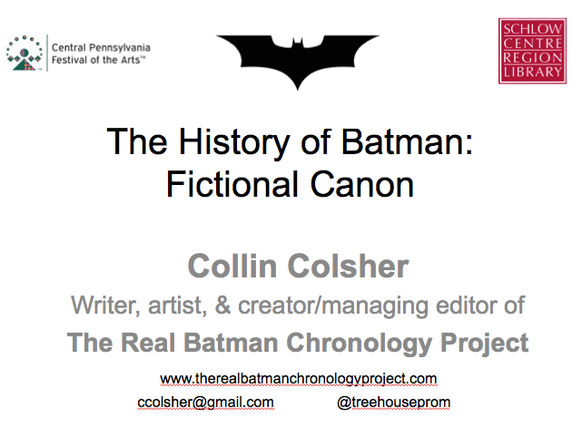 history of batman slide one #2