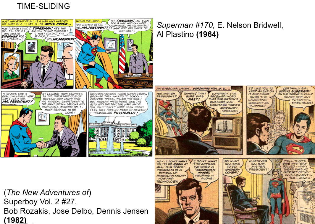 time-sliding superman batman JFK