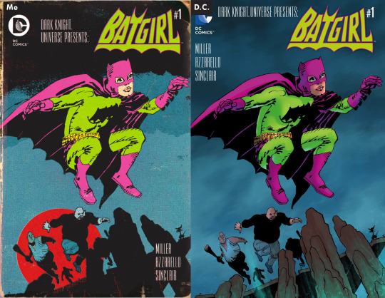 james harvey collin colsher cover game comparison dc comics